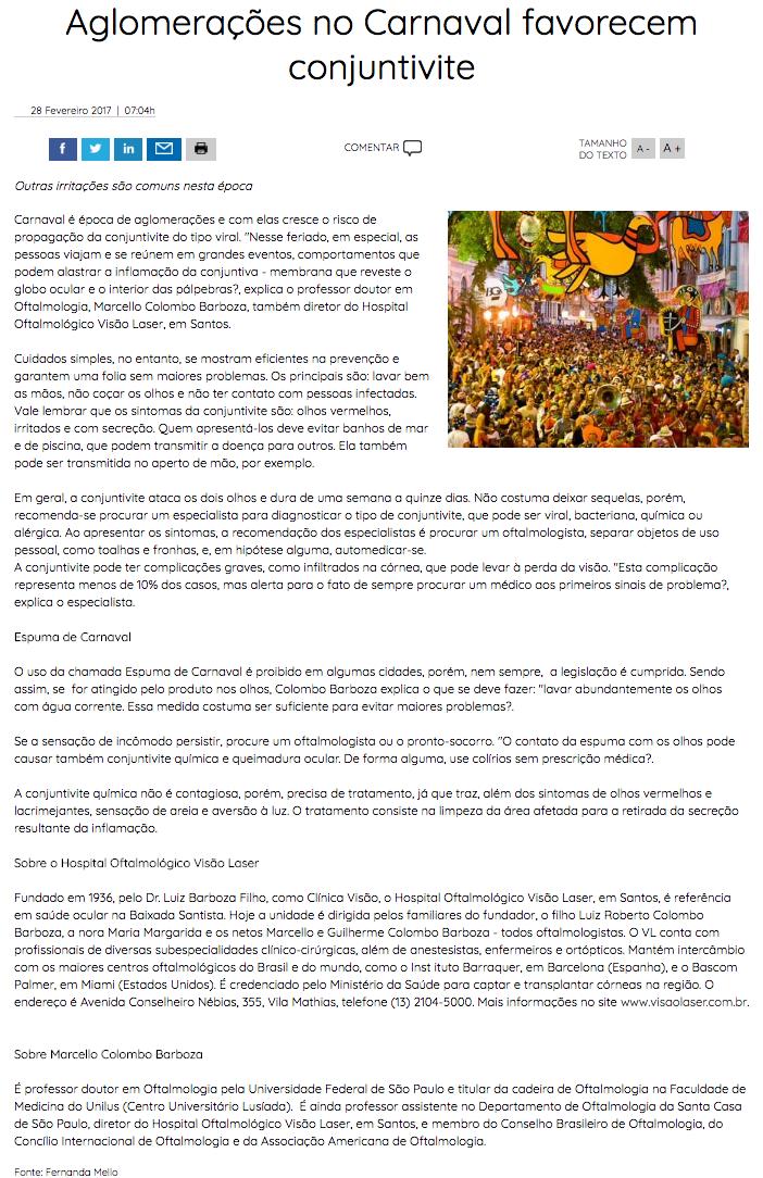 opticanet aglomerações no carnaval